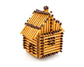 House from matches — Stock Photo