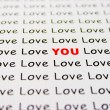Stock Photo: Love text on paper