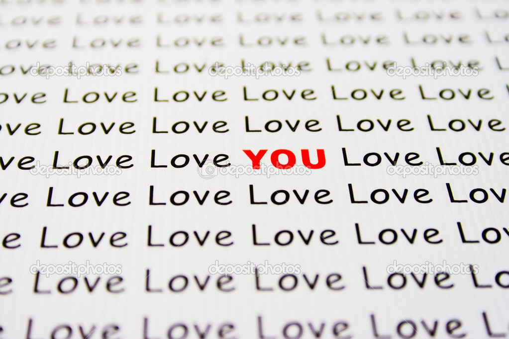 An original Love You inscription on white paper  Stock Photo #1315784