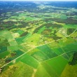 Aerial view of rural landscape - Stock Photo
