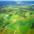 Stock Photo: Aerial view of rural landscape