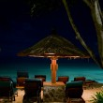 Night paradise beach in Bali — Stock Photo