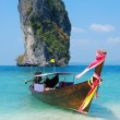 Thailand island with boat - Stock Photo