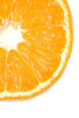 Orange segment on a white background — Stock Photo