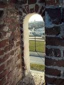 Brecha de uma fortificação — Fotografia Stock