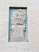 Bas-relief Matfey Evangelist — Stock Photo