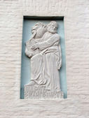Bas-relief Mark Evangelist — Stock Photo