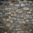 Wall built of natural stone - Stock Photo