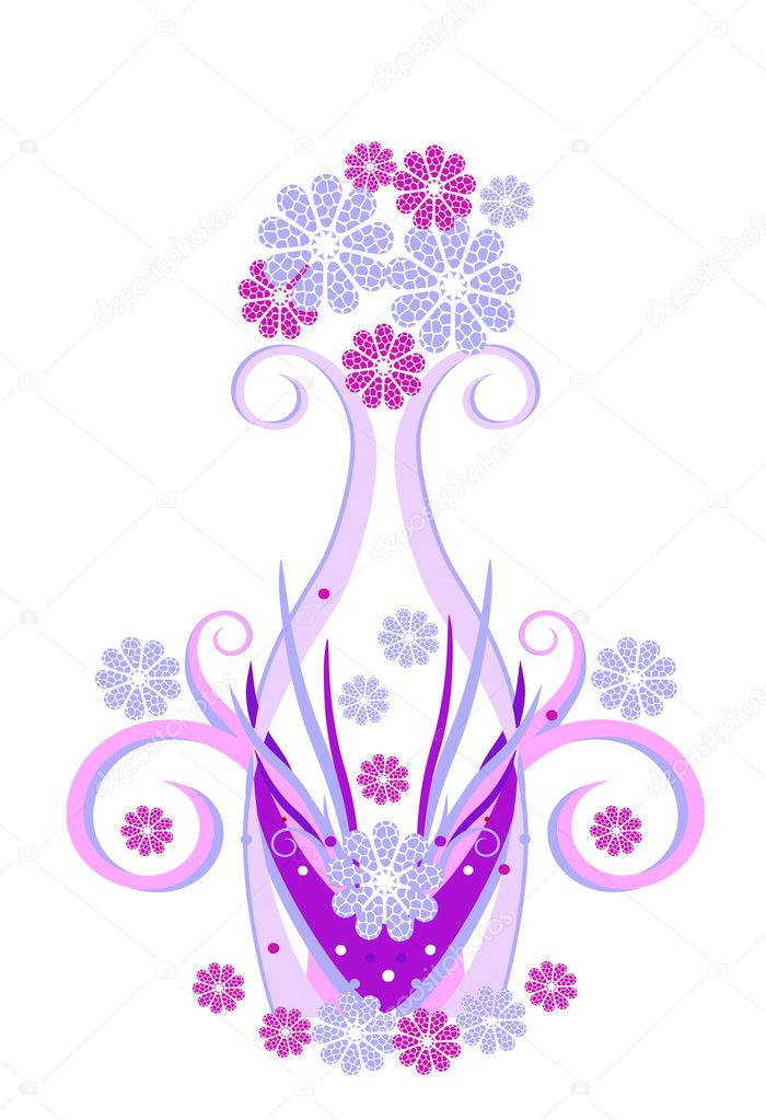 Flowers. Vector. EPS 8 — Stock Vector #1363203