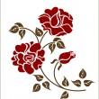 Stock Vector: Red roses on the white background