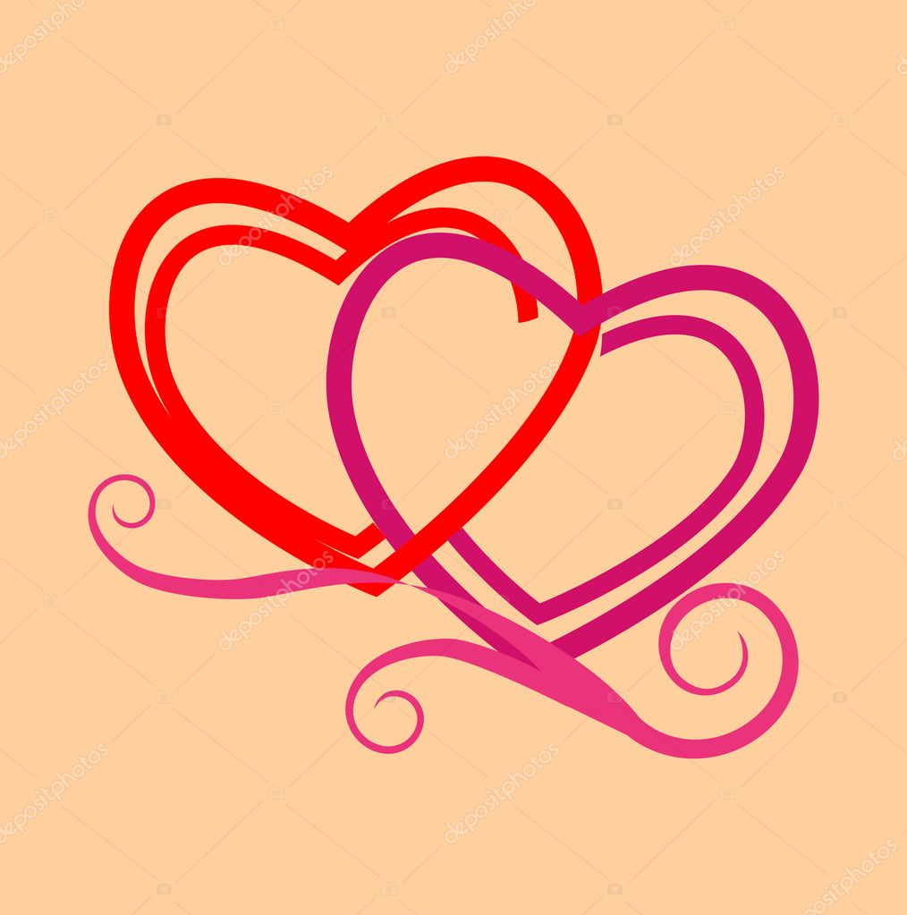 Stylized hearts. Vector. EPS 8 — Stock Vector #1370566