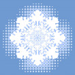 Royalty-Free Stock Vector Image: Snowflake over halftone