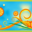 I like orange juice — Imagen vectorial