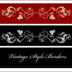 Vintage borders — Stock Vector