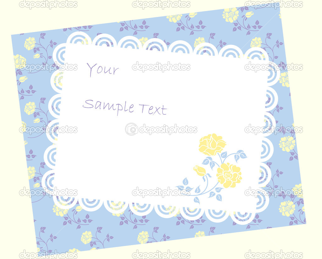 Vintage paper over floral background — Stock Vector #1415211