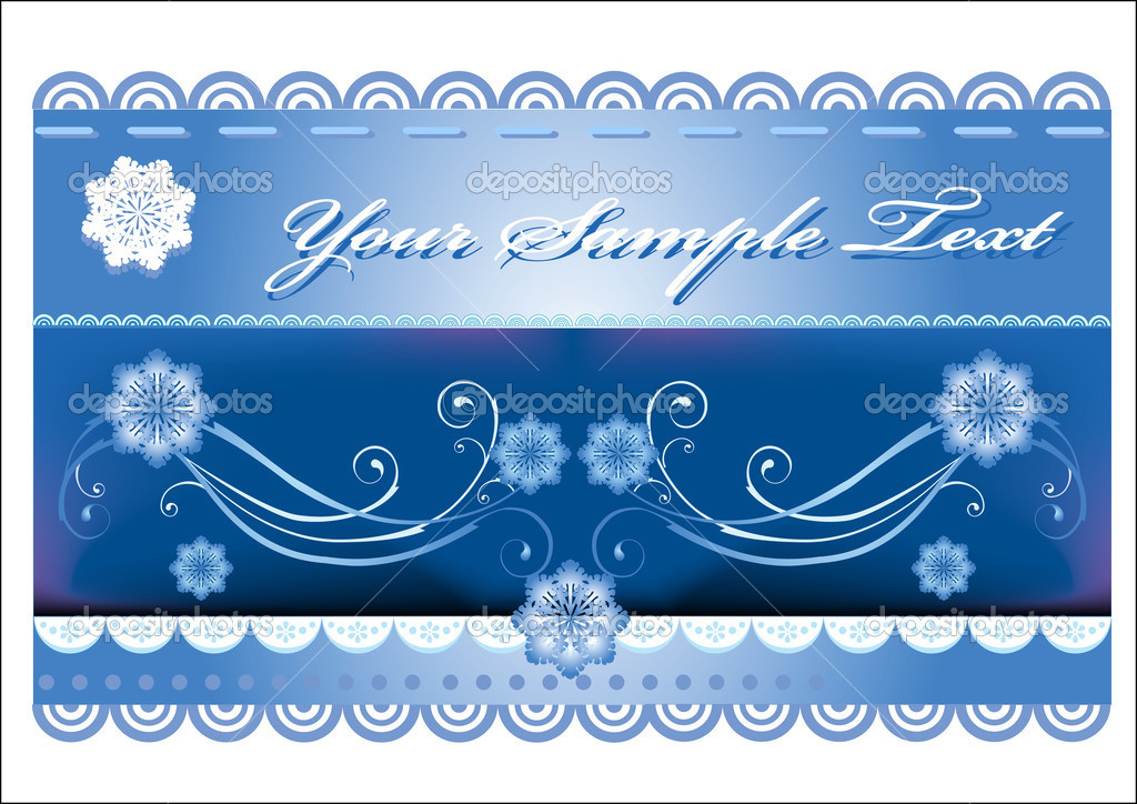 Winter background — Stock Vector #1415239