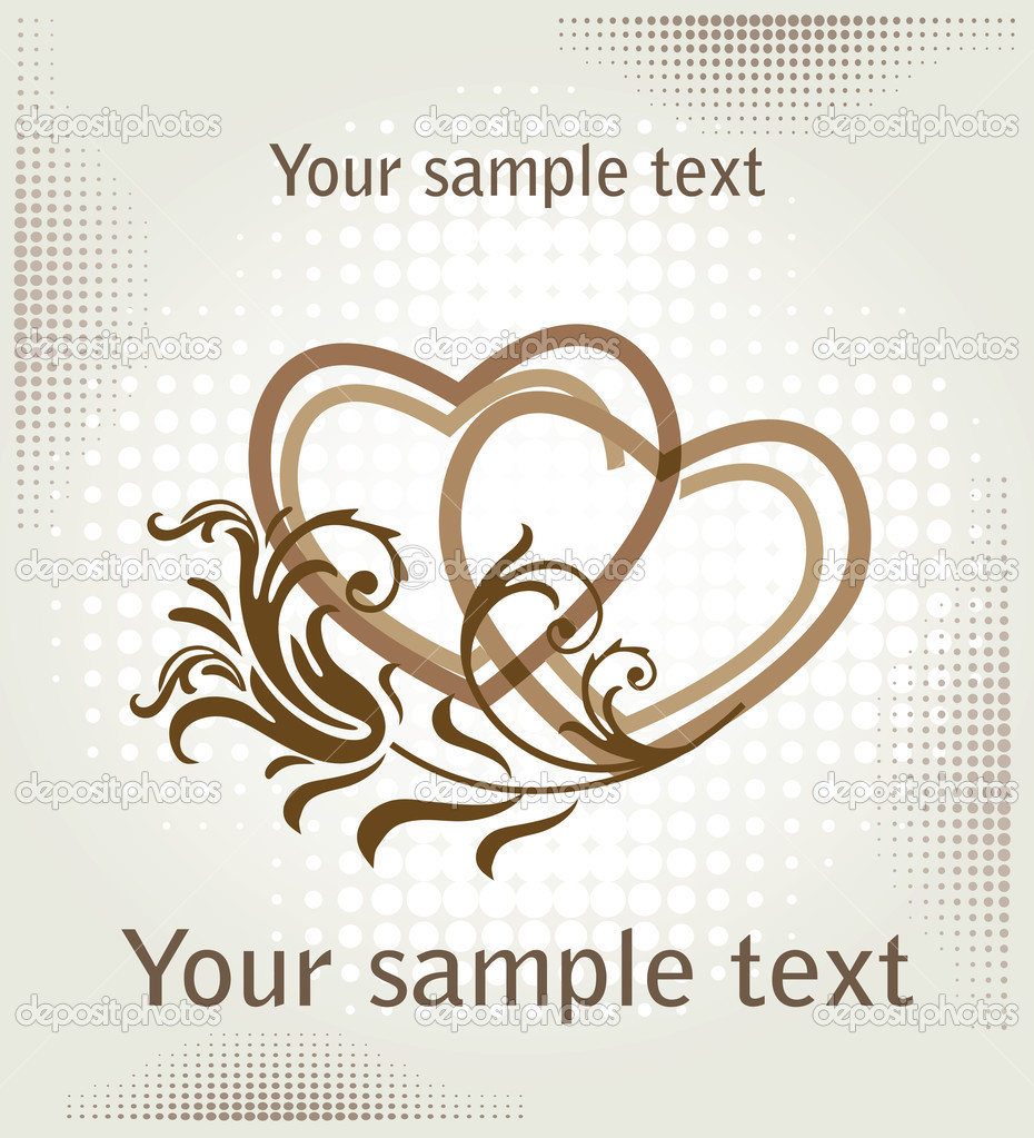 Hearts over halftone backgrpund — Stockvectorbeeld #1415375