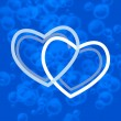 Stock Vector: Blue hearts