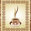 Royalty-Free Stock Vector Image: Illustration of cup of tea in the frame