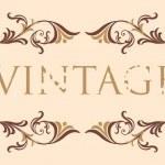 Vintage floral frame — Stock Vector