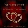 Royalty-Free Stock Vector: Hearts over halftone backgrpund