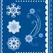 Stock Vector: Set of the winter design elements