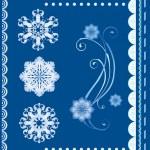 Set of the winter design elements — Stock Vector