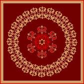 Dekoratif rozet — Stok Vektör