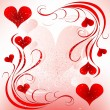 Valentines day design - Imagens vectoriais em stock
