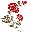 Vector de stock : Floral element