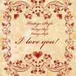 Vinage valentines day card - Stock Vector