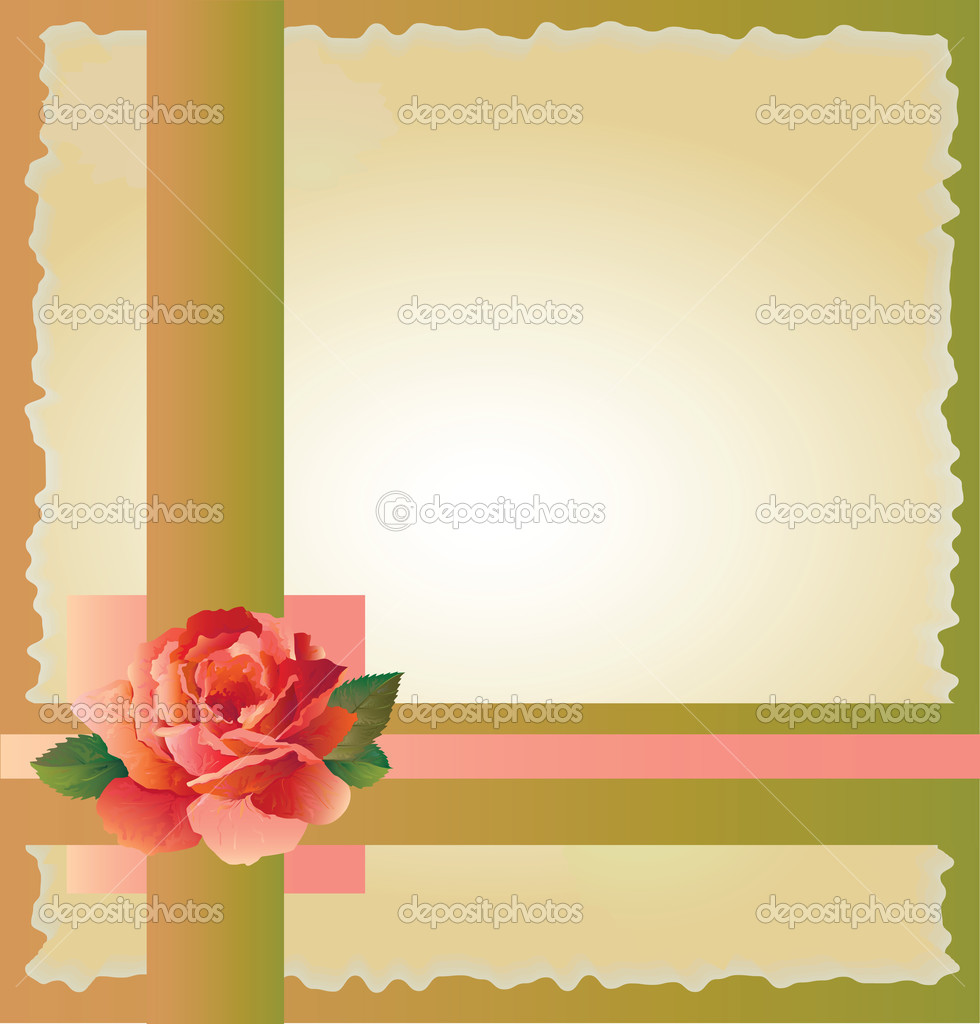 abstract background with  red rose — Stock Vector #1506794