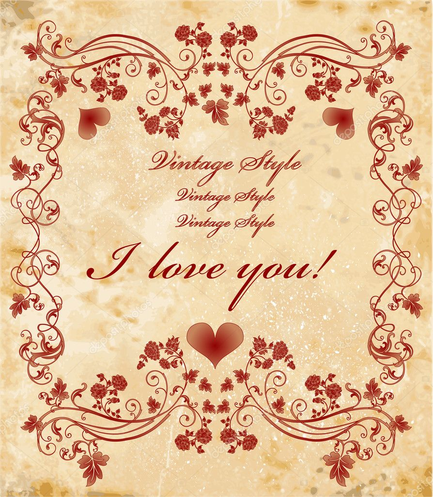 Vinage valentines day card  Stock Vector #1506904