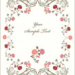 Vector de stock : Retro frame with roses.