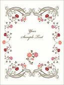 Retro marco con rosas. — Vector de stock