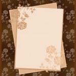 Wzór papieru na tle kwiatów — Wektor stockowy
