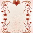 Stock Vector: Frame for valentines day