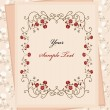 Royalty-Free Stock Vector Image: Vintage paper over floral background