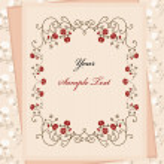 Vintage paper over floral background — Stock Vector