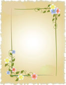 Vintage frame with flowers — Stock Vector