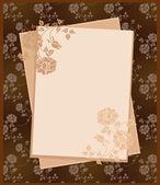 винтаж бумаги над цветочный фон — Cтоковый вектор