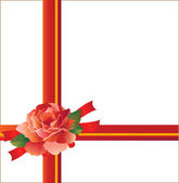 Rose with ribbons — Stock Vector