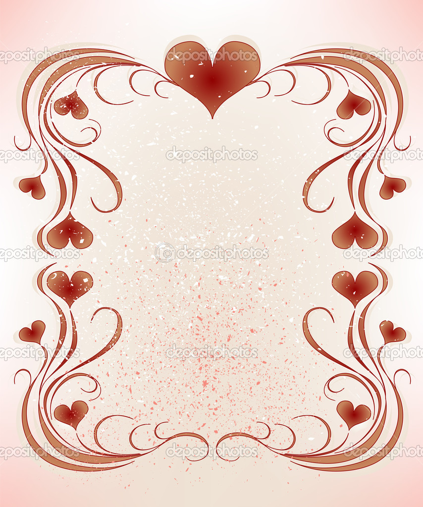 Frame for valentines day greeting card — Stock Vector #1523731
