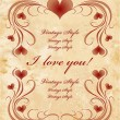 Stockvector : Vinage valentines day card
