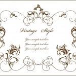 marco floral Vintage — Vector de stock