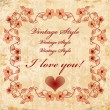 Royalty-Free Stock Obraz wektorowy: Vinage valentines day card