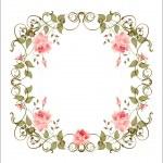 Vintage floral frame — Stock Vector #1737102