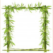 Stock Vector: Bamboo frame