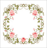 Vintage floral frame — Vettoriale Stock