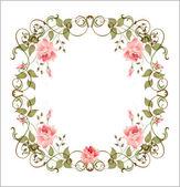 ビンテージ花のフレーム — ストックベクタ